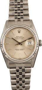 Pre-Owned 36mm Rolex Datejust 16234 Silver Dial