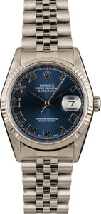 Pre-Owned Rolex Datejust 16234 Blue Roman Dial