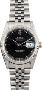 Rolex Datejust 16234 Black Index Dial