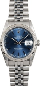 Rolex Datejust 16234 Blue Index