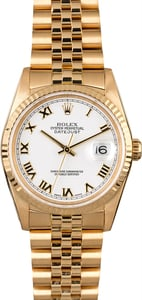 Rolex Datejust 16238 Yellow Gold Jubilee