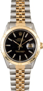Rolex Datejust 16253 Black Dial 'Thunderbird'