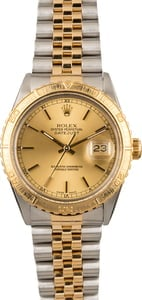 Pre Owned Rolex Thunderbird Datejust 16253 Champagne Dial