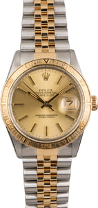 Used Rolex Thunderbird DateJust 16253 Stainless Steel and Gold