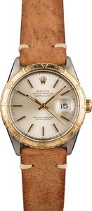 Used Rolex Thunderbird DateJust 16253 Leather Band