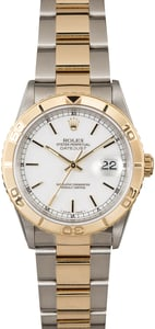 Used Rolex Datejust Turn-O-Graph 16263 White Dial