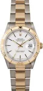 Rolex Datejust Turn-O-Graph 16263 White Dial
