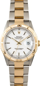 Rolex Datejust Turn-O-Graph 16263 White Index Dial