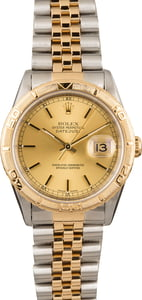 124806 Used Rolex Thunderbird Datejust 16263 Turn-O-Graph