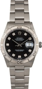 Rolex Datejust 16264 Turn-O-Graph Black Diamond Dial