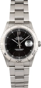 "Rolex Datejust 16264 ""Turn-O-Graph"" Black Thunderbird"
