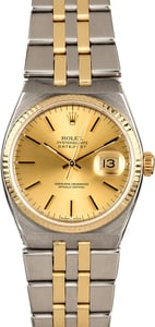 Rolex OysterQuartz Datejust 17013 Two Tone Integral Band