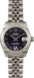 PreOwned Rolex Datejust 178274 Purple Dial with Diamond VI