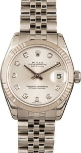 Mid-Size Rolex Datejust 178274 Silver Dial