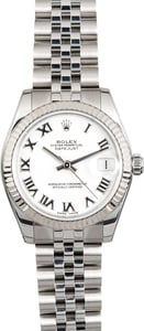 Used Rolex Datejust 178274 White Dial Mid-Size