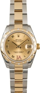 Rolex Datejust 178343 Champagne Dial with Diamond Bezel