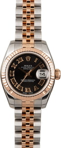Rolex Datejust 179171 Black Sunbeam Dial