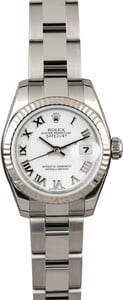Used Rolex Datejust 179174 White Roman