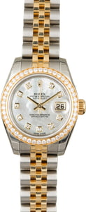 Unworn Rolex Datejust 179383 MOP Dial with Diamonds