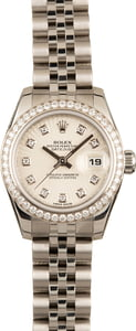 Rolex Lady Datejust 179384 Sunburst Diamond Dial