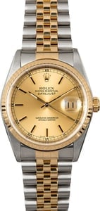 Rolex Datejust 36MM 16233 Champagne