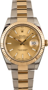 Pre-Owned Mens Rolex Datejust 126333 Champagne Luminous Dial