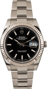 Pre-Owned Rolex Datejust 41 Ref 126334 Black Dial