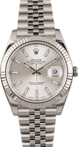 Pre Owned Rolex Datejust 41 Ref 126334 Luminous Silver Dial