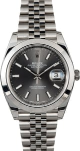 Rolex Datejust 126300 Dark Rhodium Dial