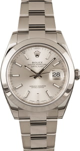 PreOwned Rolex Datejust 126300 Stainless Steel Oyster T