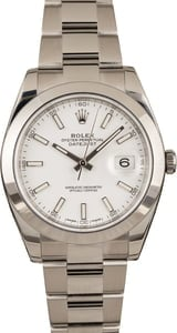 PreOwned Rolex Datejust 126300 White Dial
