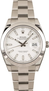 Pre-Owned Rolex Datejust 41 Ref 126300 White Dial