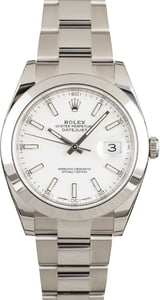 PreOwned Rolex Datejust 41 Ref 126300 White Dial