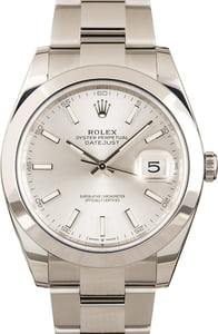 Rolex Datejust 126300 Silver Luminescent Dial