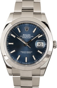 PreOwned Rolex Datejust 41 Ref 126300 Blue Dial