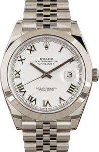 Used Rolex Datejust 41 Ref 126300 White Dial