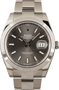 PreOwned Rolex Datejust 126300 Stainless Steel Oyster