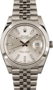 Pre-Owned Rolex Datejust 126300 Silver Dial