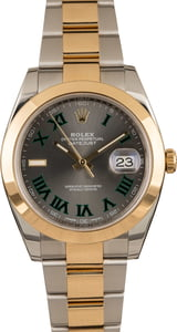 Pre-Owned Rolex Datejust 41 Ref 126303 Slate Roman Dial