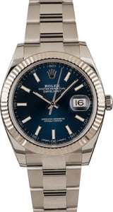 Pre-Owned Rolex Datejust 41 Ref 126334 Blue Dial