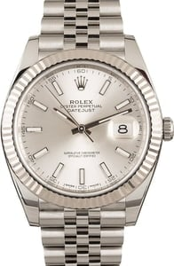 Rolex Datejust 41 Ref 126334 Silver Luminous