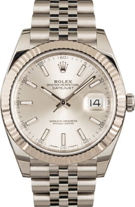 Rolex Datejust 41 Ref 126334 Silver Dial Luminous Index