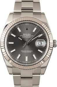 Pre Owned Rolex Datejust 41 Ref 126334 Dark Rhodium Dial