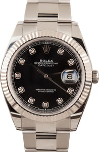 PreOwned Rolex Datejust 41 Ref 126334 Diamond Dial