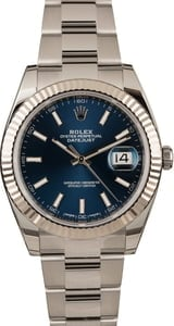 Used Rolex Datejust 41 Ref 126334 Blue Dial