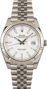 PreOwned Rolex Datejust 41 Ref 126334 White Dial