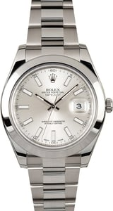 Rolex Datejust 41MM 116300 Silver Index
