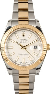 Rolex Datejust 41MM Ivory Index Dial