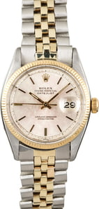 Rolex Datejust 6605 Vintage Two Tone Watch