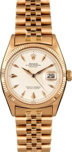 Vintage Rolex Datejust 6605 Rose Gold Jubilee